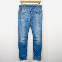 G-Star Raw Womens Lynn Mid Skinny Jeans Light Blue Aged Stretch Size W 30 L 32
