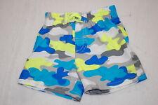 Baby Boys Swim Trunks Camouflage Print Gray Turquoise White Neon Yellow 24 Mo