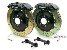 Brembo Front GT BBK Big Brake 4Pot Caliper Black 355x32 Drill Rotor Supra 93-98