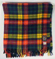 "Vintage TALBOTS Buchanon Colorful Plaid Wool Blanket 70"" x 57"""
