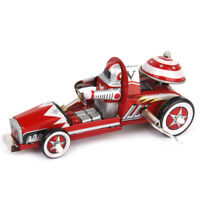 vintage style Collectable Gift Racing Car Racer Model Tin Toy w.Wind Up Key Red