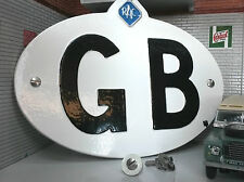 Coche Vw Bay Samba Classic Vintage Rac Blanco GB Gran Bretaña Touring placa/cartel