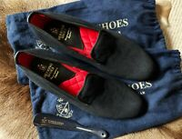 Herring Marquis Velvet Loafers Slippers - Size 10 UK - RRP £210