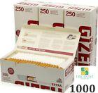 1000 GIZEH SILVER EXTRA TUBES TIP PAPER SMOKING LONGER FILTER 25MM