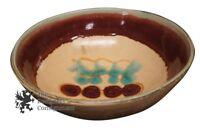 "Vintage Earthenware Glazed Ceramic Sundance Bowl 13"" Pottery Centerpiece Signed"