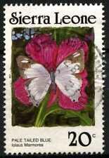 Sierra Leona 1987-89 SG#1029A 20 C Mariposa Sin Pie de imprenta fecha P14 usado #D67029