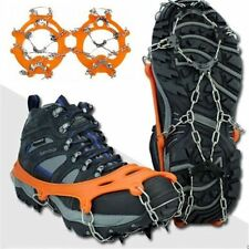 For Climbing Walking Hiking Non-slip Spikes Ice Snow Crampons Shoes Chain Cleat