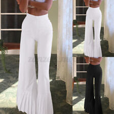 Women Casual Baggy Palazzo Wide Leg Trousers OL Party Flare Long Pants Plus Size