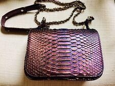 New Genuine Python Snake Skin Leather Crossbody Bag Purse