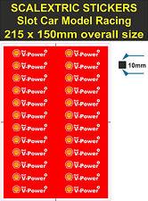 Ranura de coche Pegatina de scalextric carrera Shell V-Power Modelo Logo 4 Lego Ferrari Etiqueta 2