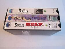 THE BEATLES VHS COLLECTION OF 3 TAPES - HELP!, HARD DAYS NIGHT & VISIT TUB MMMM