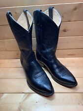 Sonora Embroidered Leather Cowboy Western Boots Black Men's 10 Us Size 28 Mx