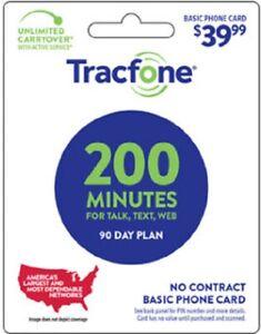 Tracfone 200 Min Pin Credit