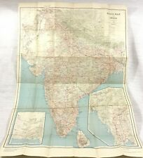 1945 Antique Road Map of India Survey Office Indian Transport Route Chart Large