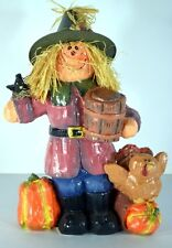 Scarecrow figurine 8 inches tall