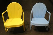 Two Home Decorative Miniature Ourdoor Style Chairs