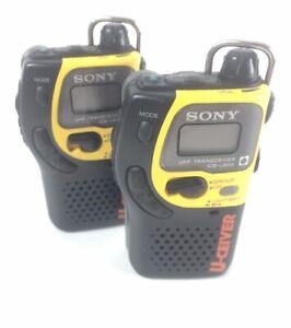 Vintage Pair Sony U-Ceiver UHF Transceiver ICB-U655 two-way radio Tested Working