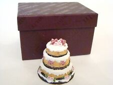 Enamel Jeweled Trinket Box - Sparkly Frosted 3 Layer All Occasion Cake