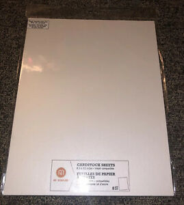 """M By Staples Metallic white Cardstock 8 Sheets, Heavy And Quality 8.5 X 11"""" NEW!"""