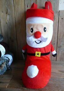 Christmas Sweet Boot or Wine Bag Small Xmas Stocking Sack Festive Santa