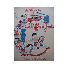 GARCIN Michel Le Coffre à Jouets Piano 1950 partition sheet music score