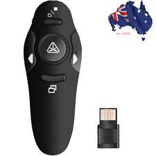 2.4 GHz Wireless Presenter Remote Control  Power Point PPT Pointer Clicker Black