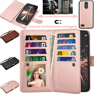 For LG Stylo Stylus 3 Plus LS777 Case Wallet PU Leather Flip Strap ID Card Cover