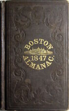 1847 Boston Massachusetts Almanac & City Directory