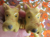 Pair Vintage West Highland Terrier Dogs Egg Cups Hand Painted V Good Condition