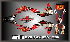 Aprilia RXV SXV 450-550 SEMI CUSTOM  GRAPHICS KIT PEGATINAS MICHA