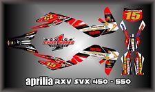 Aprilia RXV SXV 450-550 SEMI CUSTOM  GRAPHICS KIT PEGATINAS MICHA