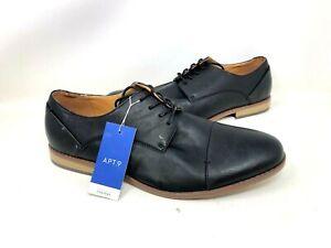 NEW! Apt.9 Men's Brendan Oxford Dress Shoes Black #176490 111T py