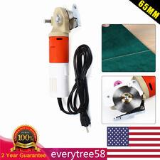 Round Scissors Cloth Cutter 65mm Blade Electric Fabric Cutting Machine Us Plug