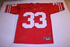 749d1c29899 Men's Ohio State Buckeyes #33 S Nike Football Jersey (Red) Jersey