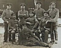 ORIGINAL - WW1 GERMAN ARMY OFFICERS in WARSAW FELDPOST PHOTO POSTCARD RPPC c1916