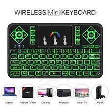 USA Q9 2.4Ghz RGB Backlight Mini Wireless Keyboard Touchpad For PC Smart TV Box