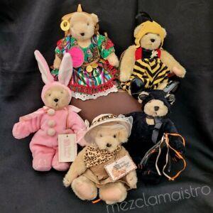 "Set of 5 Muffy Vanderbear North American bear plush Jointed 7"" Gipsy Safari"
