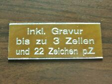 GRAVURSCHILD aus Metall  63 x 25 mm  ++ inkl. Ihrer GRAVUR ++