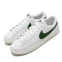 Nike Blazer Low Leather White Forest Green Sail Gum Men Classic Shoes CI6377-108