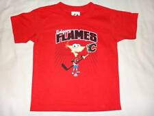 Calgary Flames PHINEAS 00 NHL Majestic Disney Phineas and Ferb T-Shirt Kids S(4)