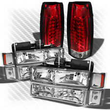 For 92-99 Tahoe Suburban Headlights Set + R/C Philips-LED Perform Tail Lights