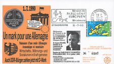 "PE215 FDC European Parliament ""A Deutsche Mark for a single Germany"" 1990"