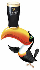 Guinness toucan laminated shaped vinyl sticker decal 600mm x 375mm outdoor use