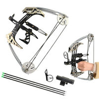 """25lbs Mini Compound Bow Set 14"""" Triangle Bow Arrows Archery Hunting Fishing"""