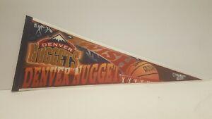 Denver Nuggets NBA Pennant Vintage 1990s Denver Colorado Basketball swish