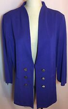 NWT MISOOK Royal Purple Flat Knit Jacket Sweater Size OX HTF Plus Size
