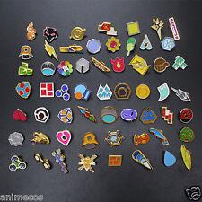 Pokemon Gym Badges Kanto Johto Hoenn Sinnoh Unova Kalos Region Set of 58 Pins