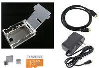 Starter Kit for Raspberry Pi 3 Model B 16GB NOOBS Power Supply Heat Sink Case
