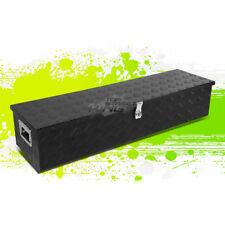 """39""""X13""""X10"""" BLACK ALUMINUM WATER RESIST PICKUP TRUCK TRUNK TOOL BOX STORAGE+LOCK"""