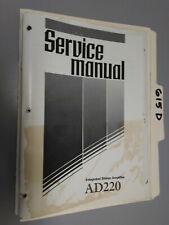 Sherwood ad220 service manual original repair book stereo amp amplifier